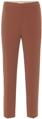 Chloé Mid-rise straight crepe pants