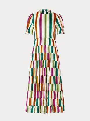 Diane von Furstenberg Zadie Voile-Blend Maxi Dress