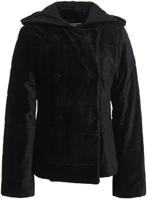 Majestic Filatures Quilted Cotton And Modal-blend Velvet Hooded Jacket