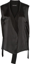 Narciso Rodriguez Silk-satin Top - Black