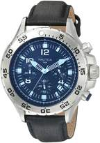 Nautica Men's NAD19536G NST Chrono Blue Crystal Analog Display Analog Quartz Watch