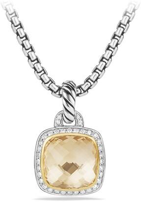 David Yurman 'Albion' Pendant with Champagne Citrine, Diamonds and 18K Gold