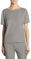 Max Mara Ares Wool Houndstooth Blouse