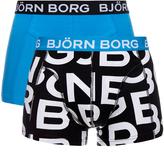 Bjorn Borg Logo 2 Pack Short Shorts