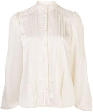 Alexis Balor pleated-shoulder blouse