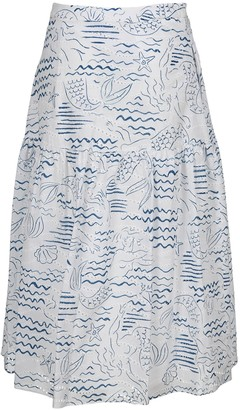 Kenzo Wave Mermaid Midi Skirt