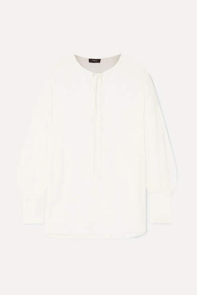 8cba7538ed6a White Crepe Blouse - ShopStyle