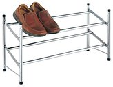EHC Two Tier Extendable Chrome Plated Shoe Rack Stand Organiser, Multi-Colour