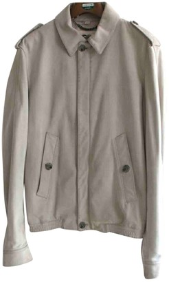 Burberry Beige Leather Jackets