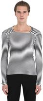 Maison Margiela Striped Cotton Long Sleeve T-Shirt