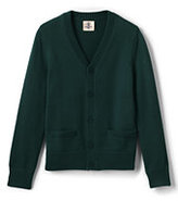 Classic Boys Performance Button Front Cardigan Sweater-Evergreen