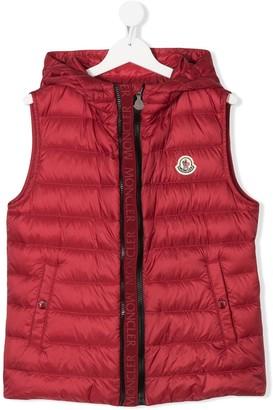 Moncler Enfant Christie logo patch gilet jacket