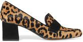 Tabitha Simmons Margot Suede-trimmed Calf Hair Pumps - Leopard print