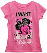Disney Little Girls' 'I Want To Be Minnie' Graphic Tee