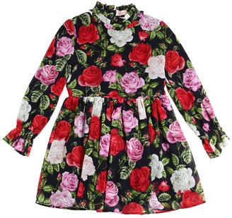 Miss Blumarine Floral Printed Crepe Dress