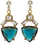 Gerard Yosca Blue Triangle Drop Earrings