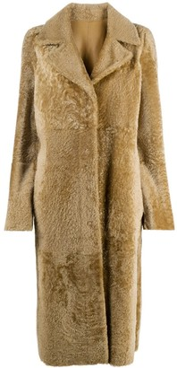 Drome Reversible Long Shearling Coat