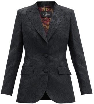 Etro Paisley-jacquard Rep Blazer - Black
