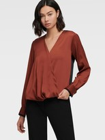 DKNY Long-sleeve Twist Front Blouse