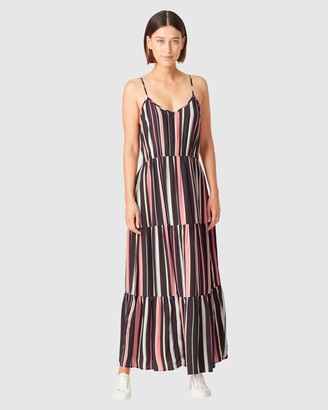 French Connection Women's Dresses - Rainbow Stripe Tiered Dress - Size One Size, 8 at The Iconic