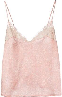 La Perla floral-print V-neck camisole