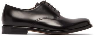 Bottega Veneta Round Toe Leather Derby Shoes - Mens - Black