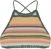 She Made Me Dhari halterneck striped crochet bikini top