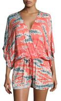 Young Fabulous & Broke Maddie Printed Tie-Front Jumpsuit