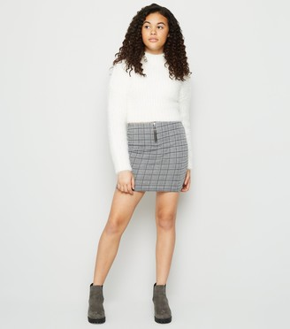 New Look Girls Check Ring Pull Skirt