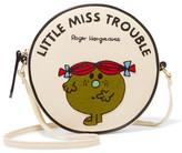 Olympia Le-Tan Little Miss Trouble Appliquéd Cotton-faille Shoulder Bag - Cream