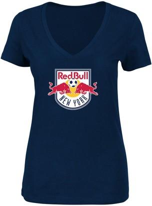 Majestic Women's Navy New York Red Bulls Plus Size Primary V-Neck T-Shirt