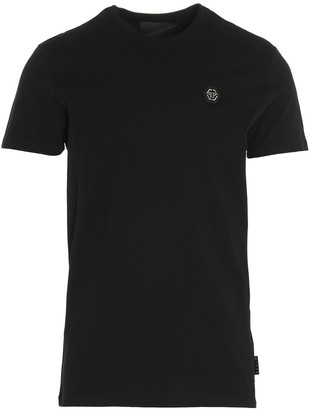 Philipp Plein Logo Embroidered T-Shirt