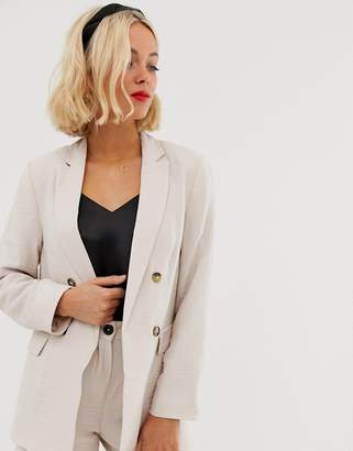 New Look blazer in stone co ord