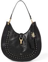 Lauren Ralph Lauren Ashfield Collection Abree Tasseled Laced Hobo Bag