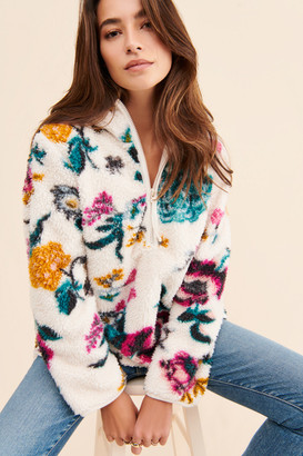Anthropologie Petite Rosemarie Hooded Sherpa Pullover