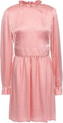 Baum und Pferdgarten Adyn Polka-dot Silk-jacquard Mini Dress