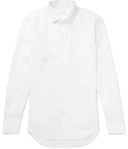 213562a02 Loro Piana White Men's Longsleeve Shirts - ShopStyle