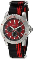 Titan Men's TN9490SP02 Octane Analog Display Quartz Black Watch