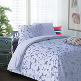 Tommy Hilfiger Blue Satin Duvet Cover & Pillowcase Set - Super King