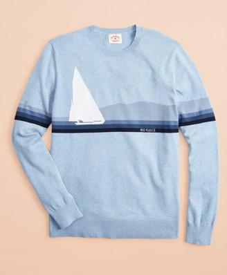 Brooks Brothers Cotton Sailboat Intarsia Sweater