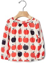 Gap Polka dot apples top