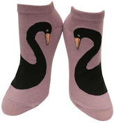 Kate Spade One-Pack Swan Print No Show Socks