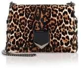 Jimmy Choo Lockett Petite leopard shoulder bag