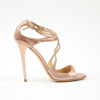 Jimmy Choo Lance Pink Leather Sandals