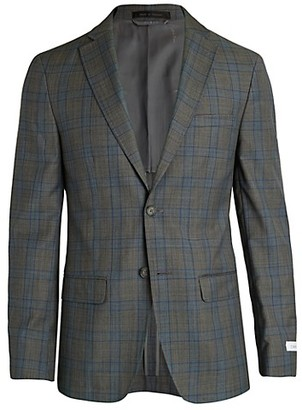 Calvin Klein Slim-Fit Plaid Jacket