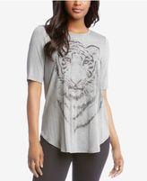 Karen Kane Tiger Graphic-Print Top