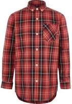 River Island Boys red check long sleeve shirt