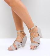 Asos Design TALI Wide Fit Lace Up Heeled Sandals