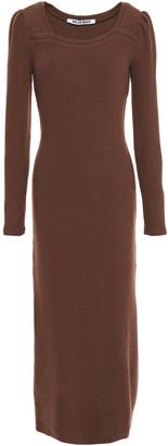 Walter Baker Ribbed-knit Midi Dress