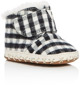 Toms Boys' Flannel Check Cuna Booties